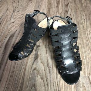 """Via spiga leather heeled sandals 3"""" heel"""